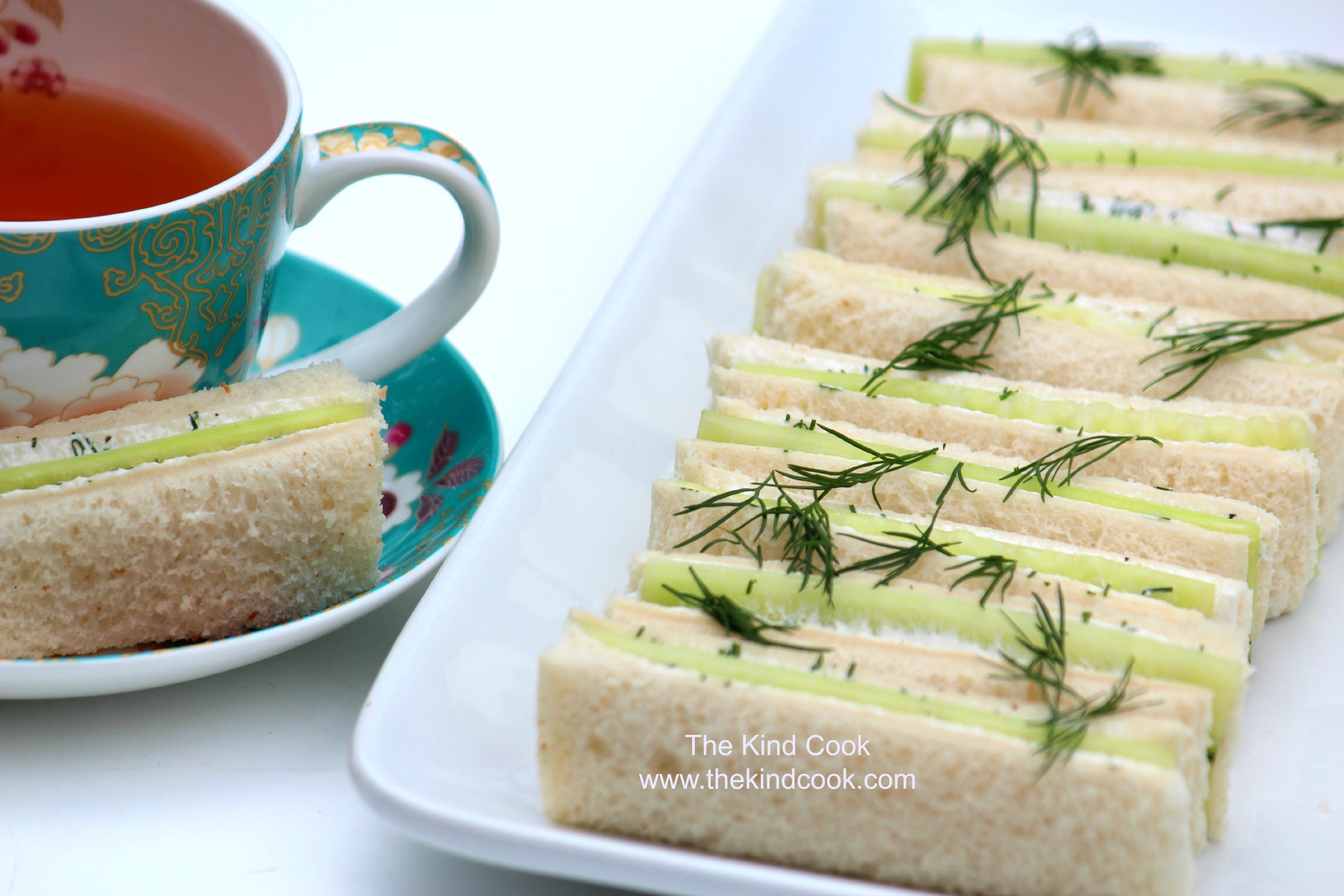 Fancy Cucumber Sandwiches