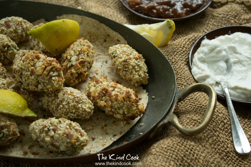 Sesame Almond and Potato Koftas