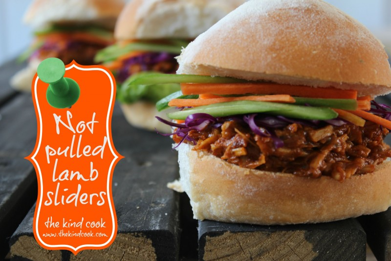 Pulled Jackfruit Rogan Josh Sliders with Slawwm