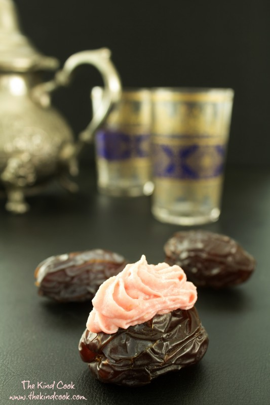 Medjool Dates with Rosewater Cashew CreamWM